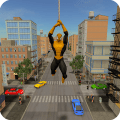 Flying Hero Crime City Battle Game