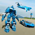 US Police Robot Car Game – Police Plane Transport Game