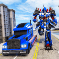 Indian Police Robot Transform Truck Game
