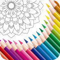 Color Mandala Book - Mandala Coloring Art Game