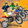 Dirt Bike Cop Race Free Flip Motocross Racing Game Game