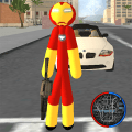 Iron Stickman Rope Hero Gangstar Crime Game