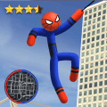 Spider Stickman Rope - Hero of Crime City Game