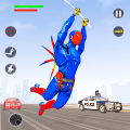 Flying Robot Rope Hero - Vegas Crime City Gangster Game