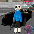 Sans Stickman Rope Hero Simulator Game