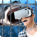 Swim Sharks In Cage VR Simulator