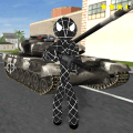 Black Spider Stickman Rope Hero Gangstar Crime Game