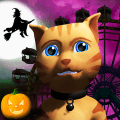 Halloween Cat Theme Park 3D Game