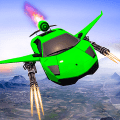 Car Flying Shooting: Flying Car Simulator 2019 Game