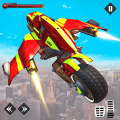 Light Bike Flying Stunts Game