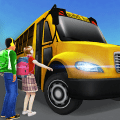 Super High School Bus Driving Simulator 3D - 2019 Game