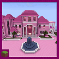 Pink Princess House Map for MCPE Game