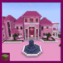 Pink Princess House Map for MCPE