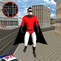 Flying SuperHero Rope Vegas Rescue Game