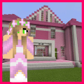 Princess House Pink Map For MCPE Game