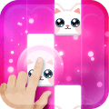 Pink Cat Piano - Magic Girly Piano Tiles Cat Game